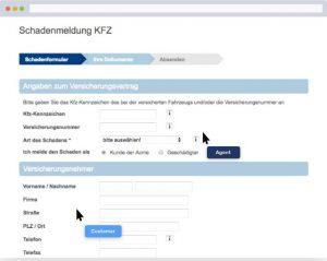 Schadensmeldung KFZ Unfall Online
